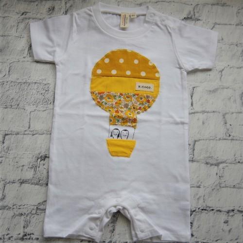 【kitoco.】アップリケのロンパース(気球・80サイズ)