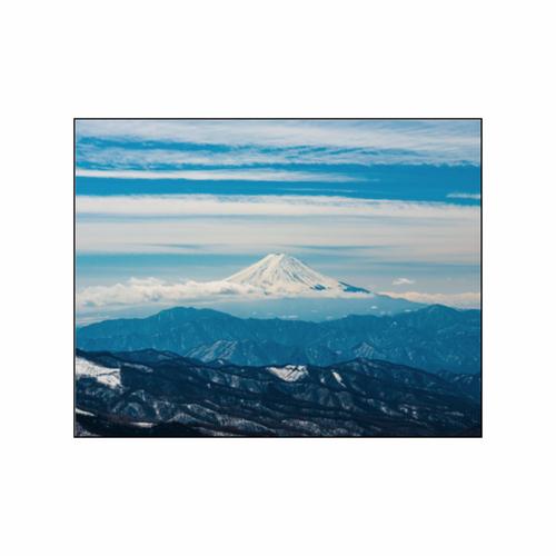 「遥かに望む富士の山」フォトパネル(W23×H18)