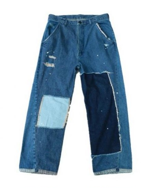 SUNNY SPORTS/CARPAINTER WIDE PATCHWORK PANTS