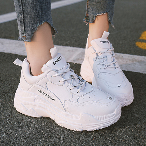 【sneakers】Student Korean style  2018 new thick bottom sneakers