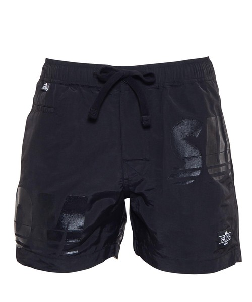 SUNS BIG RUBBER PRINT SWIM SHORTS[RSW037]