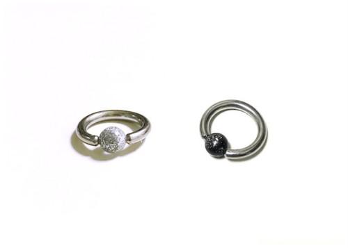 ビーズリング 4(ピアス)・Captive bead ring 4(ear piercing)