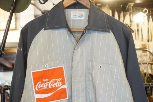 70's Coca-Cola striped perma-neat Shirt