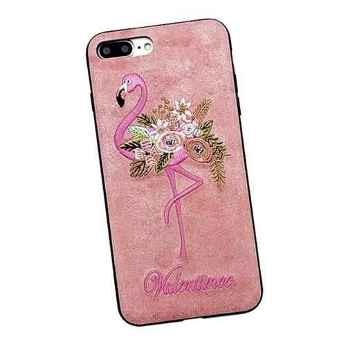 iPhoneケース 人気 フラミンゴ かわいい 刺繍 ピンク 夏 ハワイアン