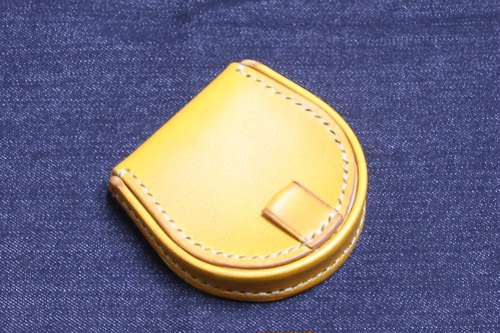 馬蹄型コインケース イタリアンレザー エルバマット使用