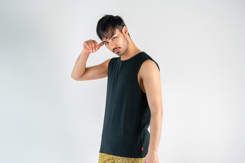 【6/3(wed)21:00販売開始】ThreeArrows Cut-off Sleeveless(black)