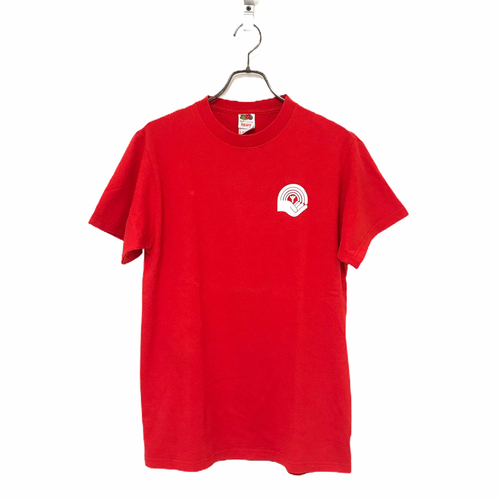 00's FRUIT OF THE LOOM HEAVY COTTON BANTRE T-shirt made in USA size M Red