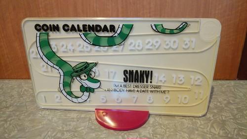 コインカレンダー ヘビ