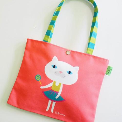 猫 キャンバスバッグ A