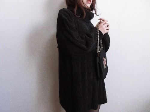 Vintage 90s black oversized sweater