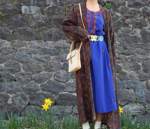 USA VINTAGE EMBROIDERY ONE PIECE (TUNIC)/アメリカ古着刺繍ワンピース(チュニック)