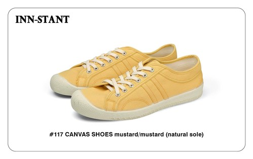 #117 CANVAS SHOES mustard/mustard (natural sole) INN-STANT インスタント 【消費税込・送料無料】