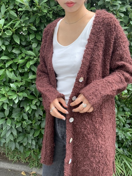 "USED【 SALE 30%OFF 】"" mohair mix cardigan """
