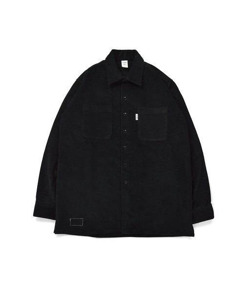 Corduroy Over Work Shirt / BLACK