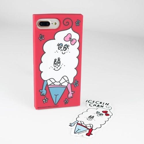 iPhone7・7+シリコンケース「あいすくりんちゃん」