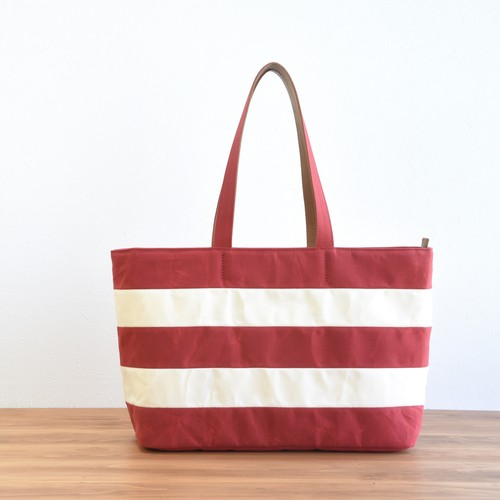 WIDE BORDER TOTE FL / RED(Long handle)