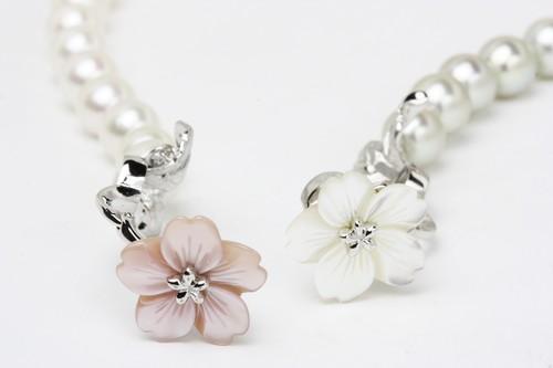 マグピタ真珠留め金加工(花~桜)