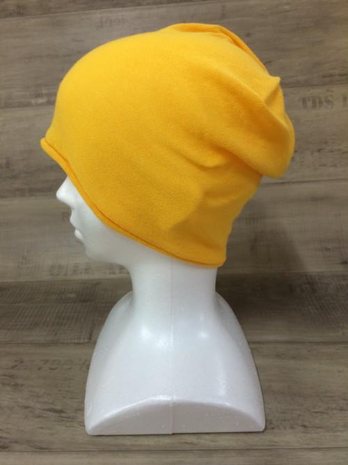 【送料無料】こころが軽くなるニット帽子amuamu 新潟の老舗ニットメーカーが考案した抗がん治療中の脱毛ストレスを軽減する機能性と豊富なデザイン NB-6060 山吹色(やまぶきいろ)