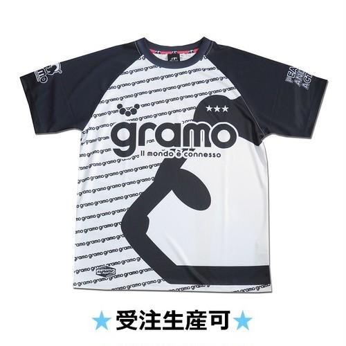 プラクティスシャツ「gene」(ホワイト/P-052)☆受注生産可☆