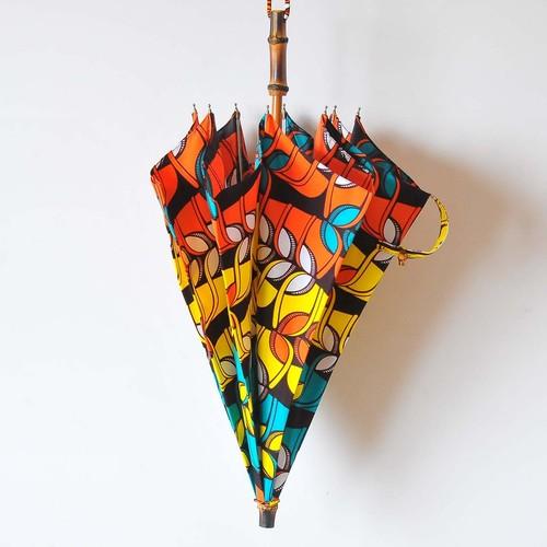 Bon Bon Store アフリカンバティック長傘(竹 008)