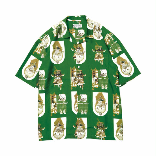 EVISEN  THRILL ALOHA SHIRT GREEN エビセン アロハシャツ