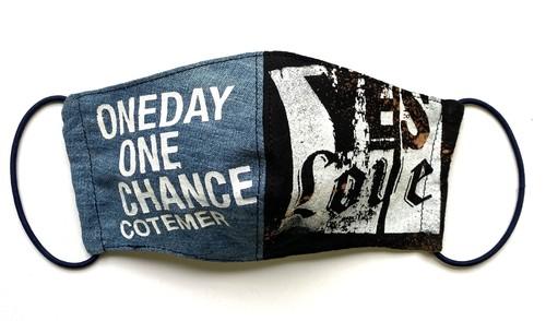 【COTEMER マスク 日本製】ONE DAY ONE CHANCE DENIM × BLEACH MASK o-db01