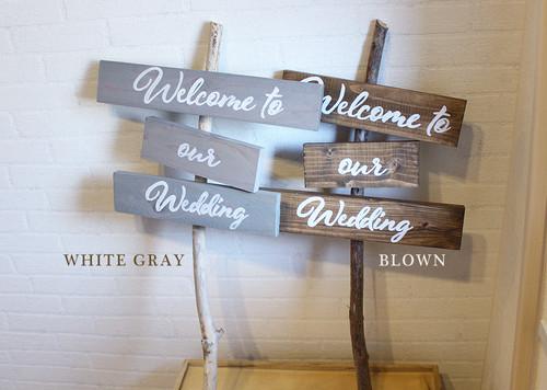 木製ウェルカムサイン看板 ウェルカムスペースや受付に【wood-item-3】
