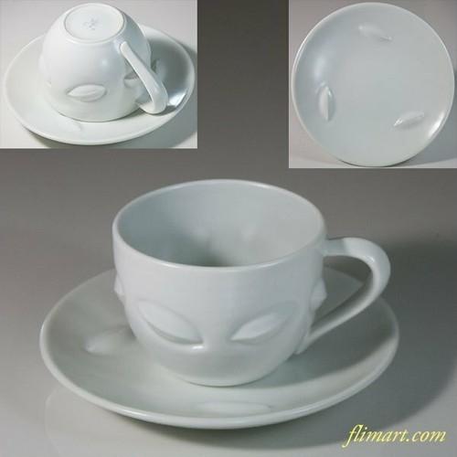 白釉碗皿W6852