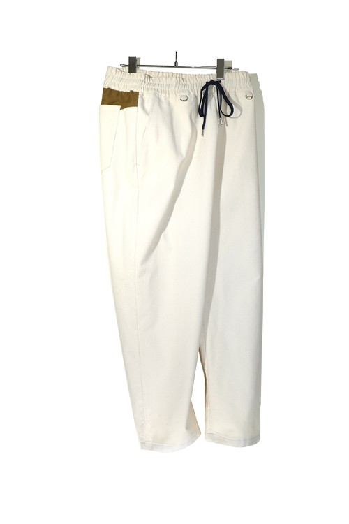 Wide Tapered Easy Pants OFF WHITE