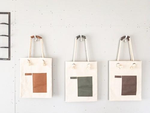 【残2】ZOZOTTE  rope handle canvas tote bag / ロープハンドル帆布トートバッグ