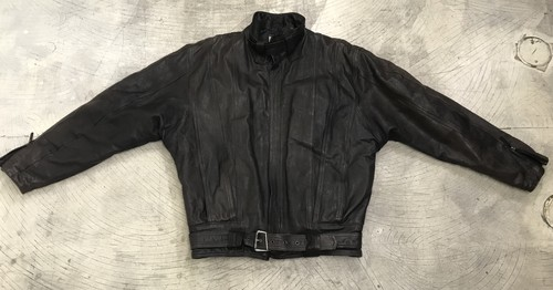 1980s MARITHE FRANCOIS GIRBAUD LEATHER JACKET