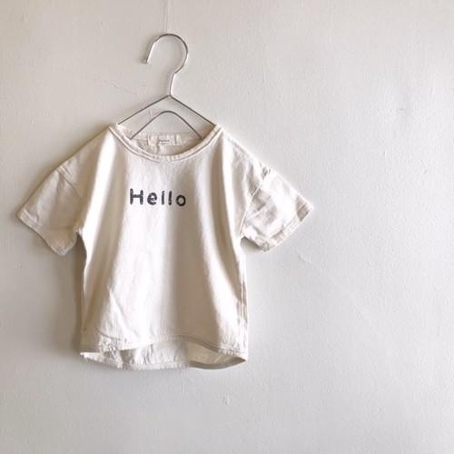 【Hello】【Good bye】Tシャツ☆ラスト2点90・130サイズ