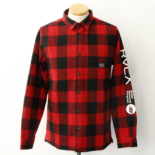 RVCA BROTHERS FLANNEL SHIRT (RED)