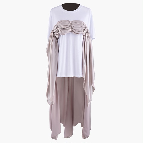 RIMI&Co. SELECT サテン切り替えバックロングTシャツ 2Color