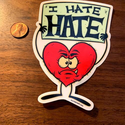 Hateful Heart Sticker by burrito breath/Phil Guy