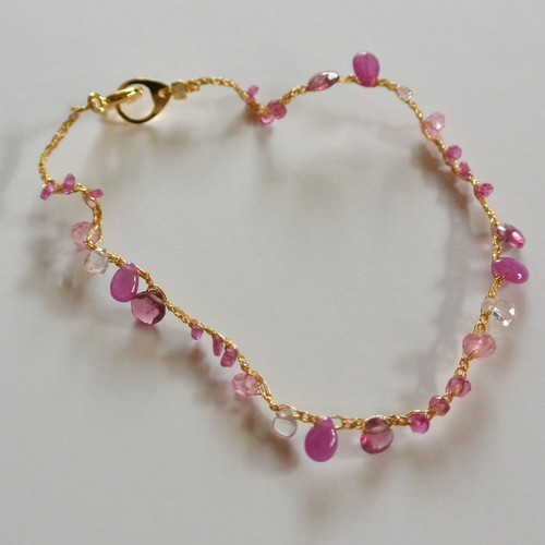 金糸ブレスレット pink parade