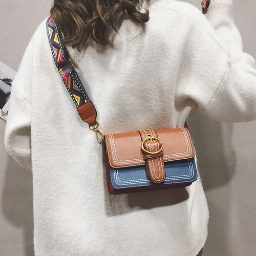 【バッグ】配色カジュアルシンプルファッション切り替えバッグ26460733