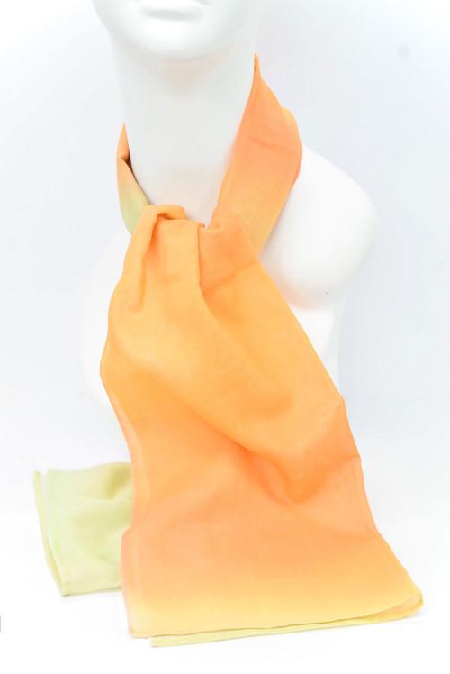 手拭いストール ミックスぼかし(橙&利休) 約120×33cm