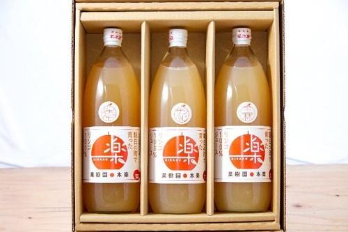 【賞味期限間近のため特価!!】りんごジュース(シナノスイート、王林) 1Lビン×3本入り