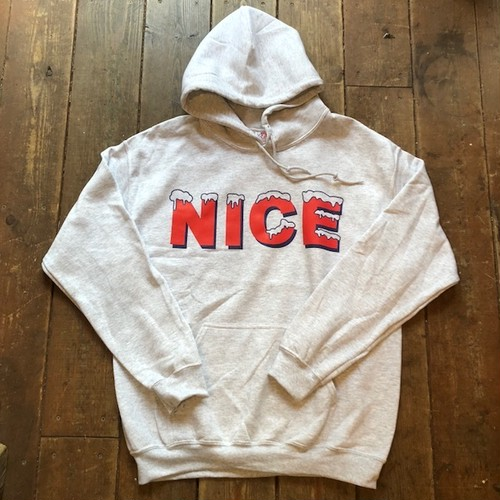 """NICE"" Sweat Parka, Grey"