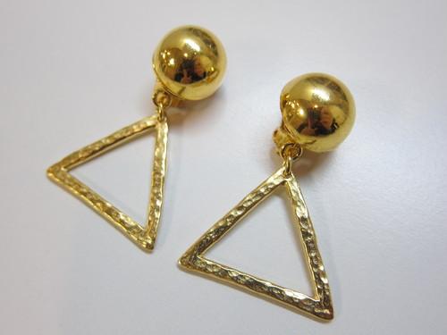 (IKUO)gold circle×triangle イヤリング