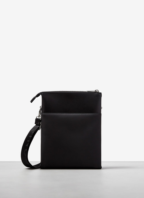 RECTANGULAR FAUX-LEATHER CROSSBODY BAG