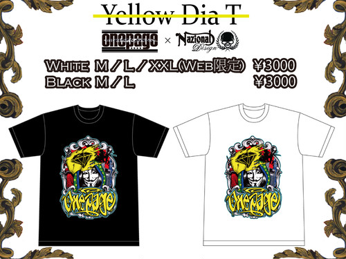 onepage YellowDiaTシャツ
