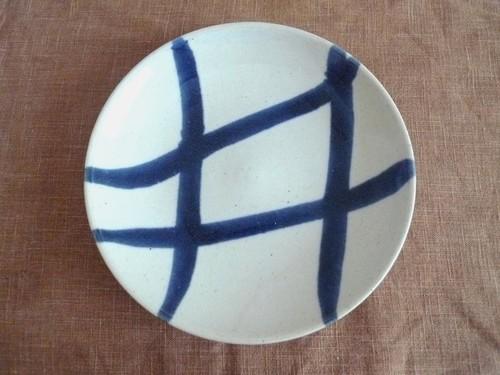六寸皿 白+紺