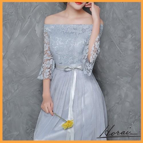 ウエディングドレス ロング ブライズメイド服 オフショルダー ワンピース 介添え ドレス 結婚式 二次会 20代 30代 40代 【お取り寄せ】