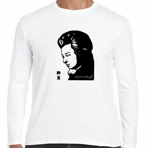 ヴォルフガング・アマデウス・モーツァルト オーストリア 音楽家 歴史人物ロングTシャツ111