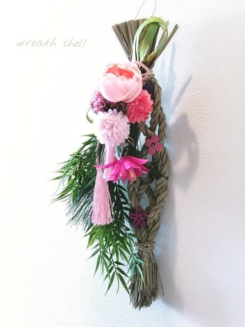 お飾りスワッグ 桃色ピンク
