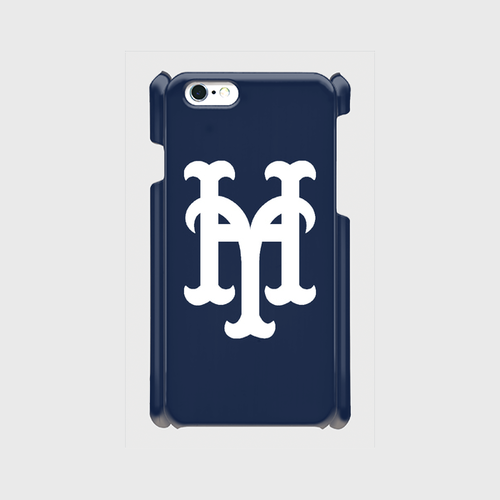 yh Mets iPhone6/6s/7 ケース (Navy×White)