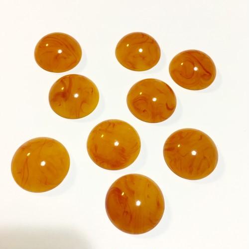 オレンジマーブルカボションø24mm 2ヶ入り