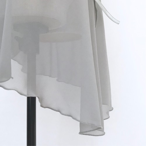 "◇""Tatiana"" Ballet Wrap Skirt -  Misty Silver [Sheer](  ミスティ・シルバー [シアー])"